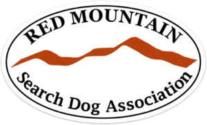 Red Mountain Search Dog Association Sticker