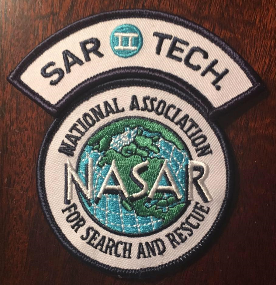 Nasar Sartech Ii Certifications Red Mountain Search Dog Association